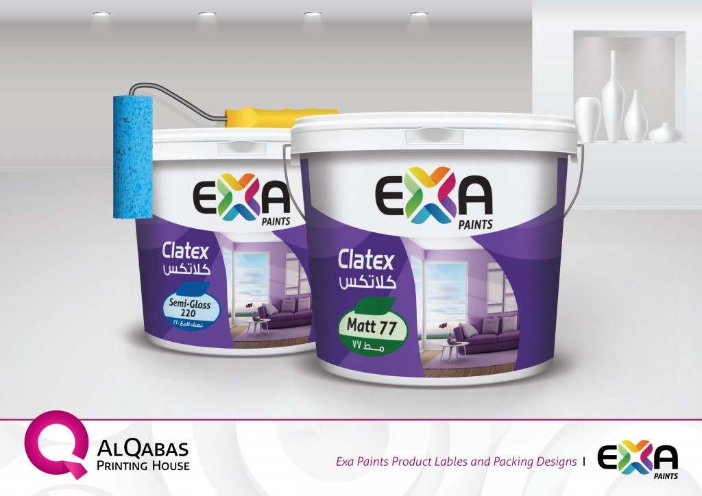 Exa Paints Product Labels And Packaging Designs Q For Advanced Printing Solutions